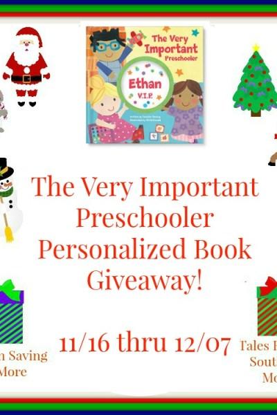 Very Important Preschooler Book Giveaway 12/7