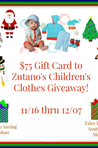 $75 GC to Zutano Children's Clothing Giveaway 12/7