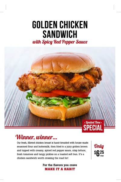 The Habit! Check out the new Chicken Sandwich!