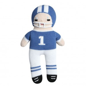 zubels-100-percent-cotton-hand-knit-royal-blue-white-football-player-baby-toy-300x300