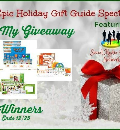 Teach My Giveaway Ends 12/25 – 4 Winners