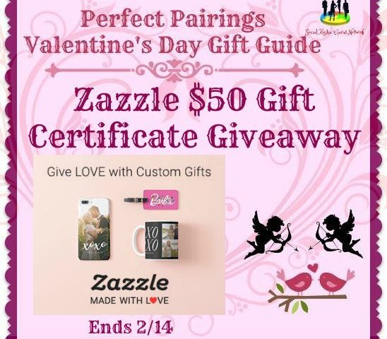 Zazzle $50 Gift Certificate Giveaway Ends 2/14