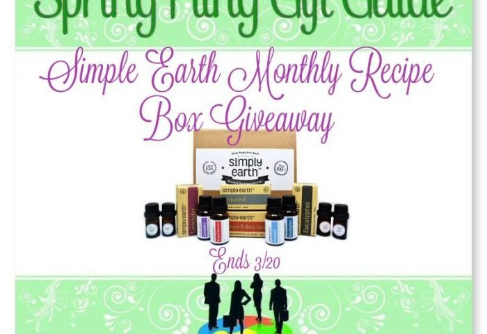 Simple Earth Monthly Recipe Box Giveaway Ends 3/20