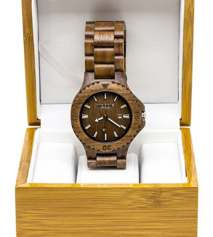 Woodie Specs Walnut Wood Watch Father's Day Giveaway
