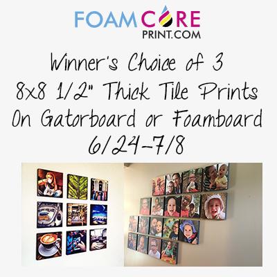 FoamCorePrint.com Giveaway