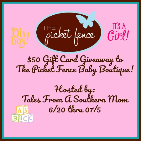 The Picket Fence Baby Boutique $50 Gift Card Giveaway!