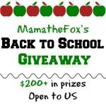 2017 MamatheFox's Back to School Giveaway!