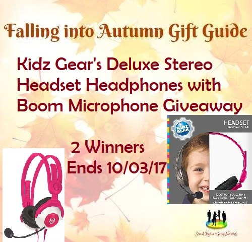 Kidz Gear's Deluxe Stereo Headset Headphones with Boom Microphone Giveaway ~ Ends 10/3