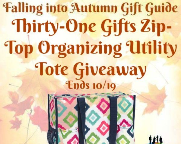 Thirty-One Gifts Zip-Top Organizing Utility Tote Giveaway Ends 10/19