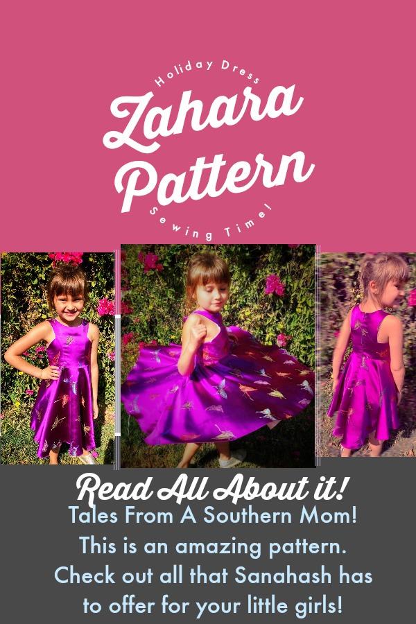 Sansahash presents the New Zahara Dress Pattern