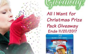 All I Want for Christmas Prize Pack Giveaway