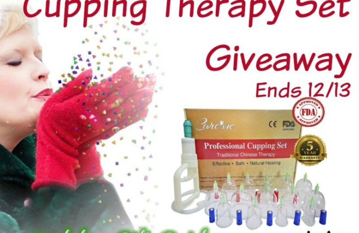 Chinese Acupuncture Cupping Therapy Set Giveaway 12/13