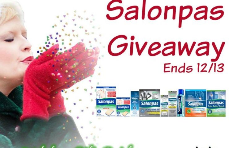 Pain Relief With Salonpas Giveaway Ends 12/13