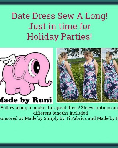 Date Dress Sew A Long from Patterns by Runi