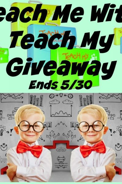 Teach Me With Teach My Giveaway Ends 5/30