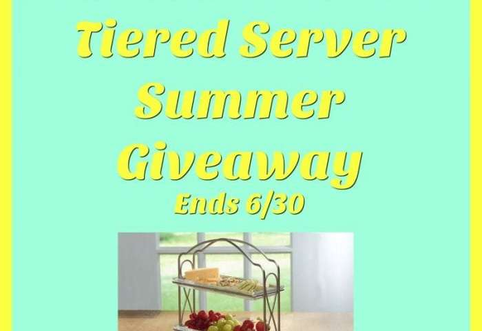 The Princess House 2-Tiered Server Summer Giveaway!