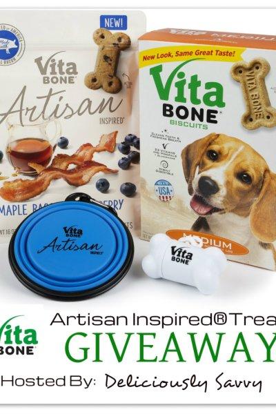 Vita Bone®Artisan Inspired®Treats Giveaway ~ 1 Winner (Ends 6/29) @Vita_Bone #VitaBoneGoodSmells