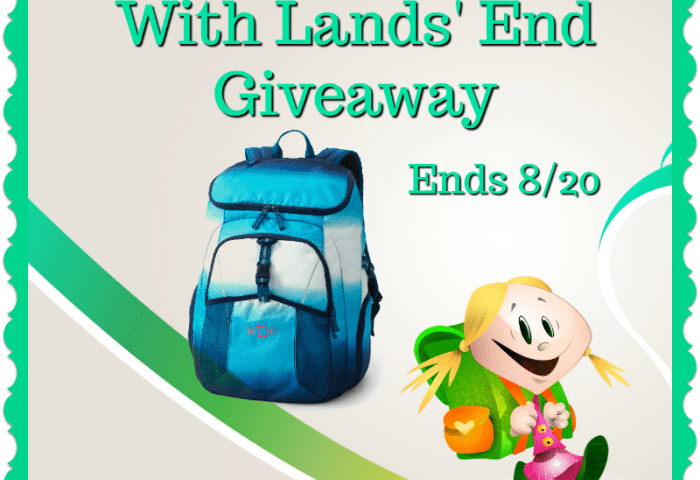 Pack Your Books With Lands' End Giveaway Ends 8/20