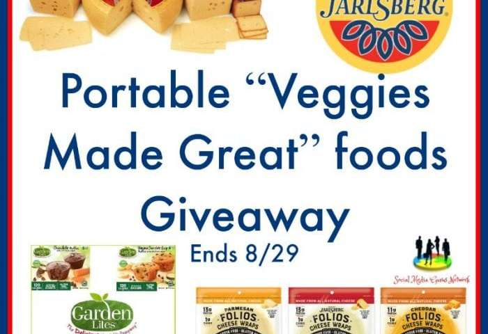 "Portable ""Veggies Made Great"" foods Giveaway Ends 8/29"