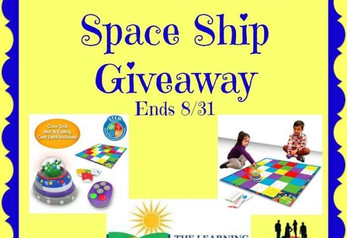 Code & Learn! Space Ship Giveaway Ends 8/31
