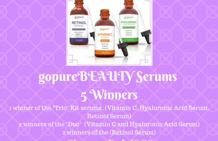 Welcome to the gopureBEAUTY Giveaway  Ends 10/20