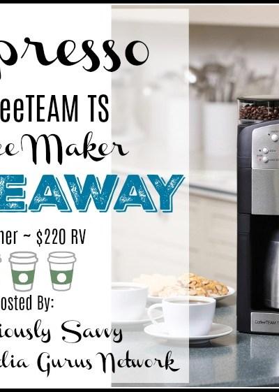 Capresso CoffeeTEAM TS Coffee Maker Giveaway (1 Winner ~ $220 RV)