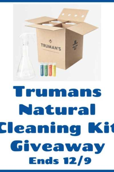 Trumans Natural Cleaning Kit Giveaway Ends 12/9