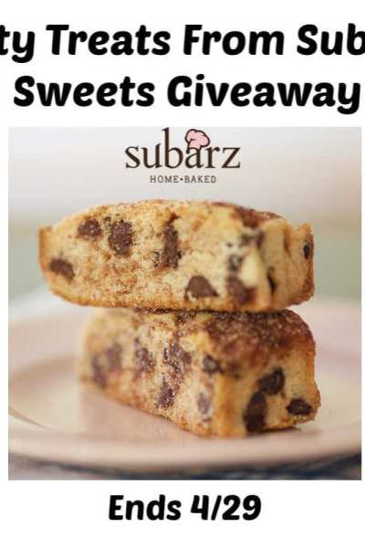 Tasty Treats From Subarz Sweets Giveaway Ends 4/29