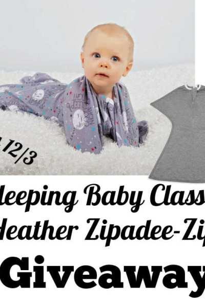 Sleeping Baby Classic Heather Zipadee-Zip Giveaway