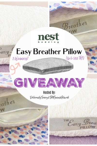 Welcome to the Nest Bedding Easy Breather Pillow Giveaway