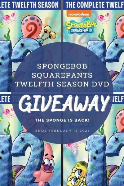 SpongeBob SquarePants Twelfth Season DVD Giveaway!