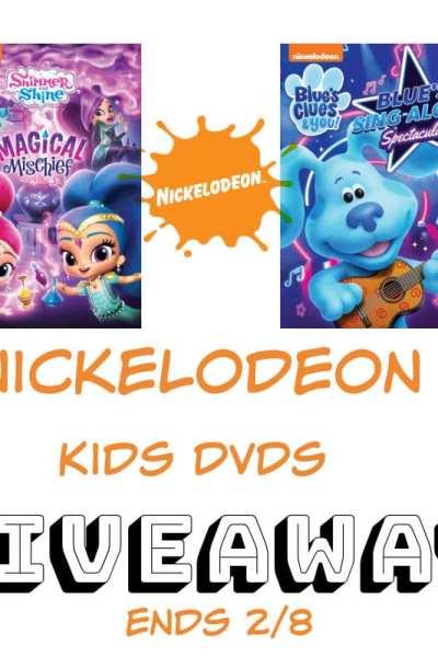 Nickelodeon Kids DVDs Giveaway