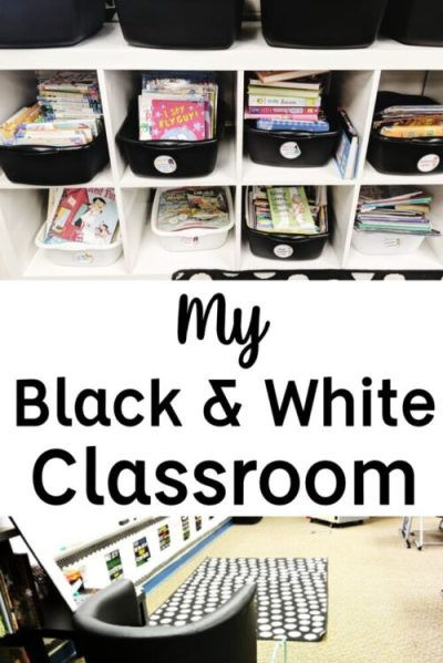 Black and White Classroom Decor and Furniture