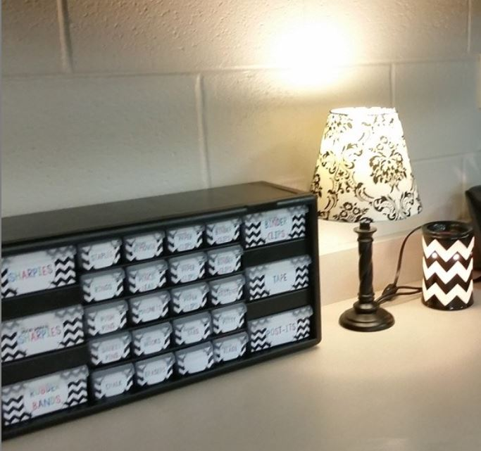 Black and White Chevron teacher toolbox