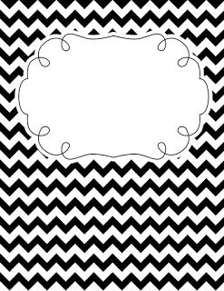 Black and white chevron binder cover
