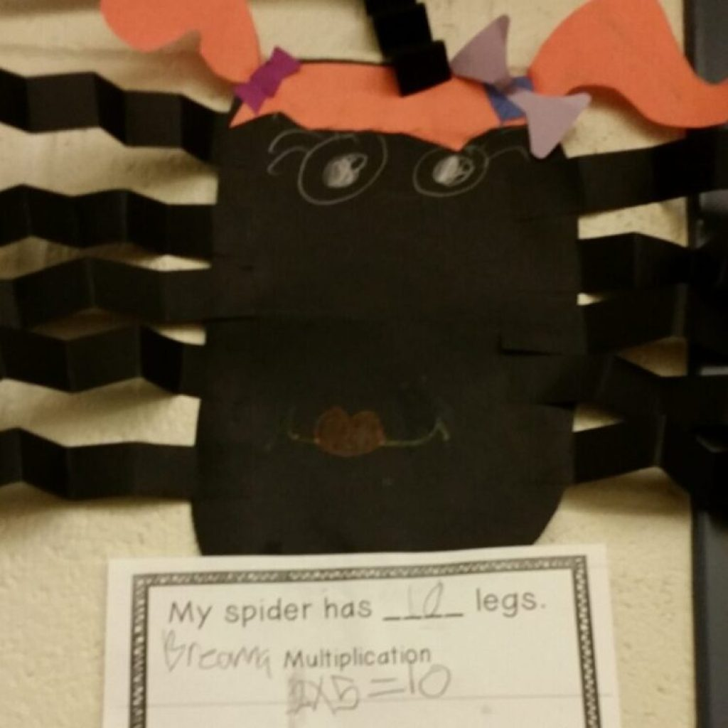 Make this cute spider craftivity to apply multiplication knowledge of arrays.