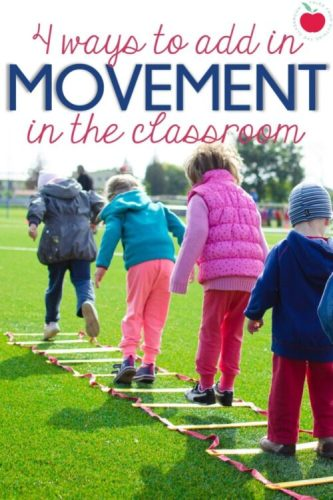 4 ways to add movement in the classroom
