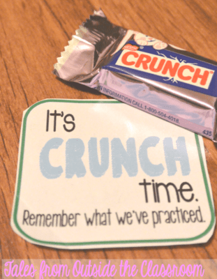 Treats to help motivate kids for testing.