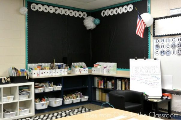 Classroom library and meeting spot