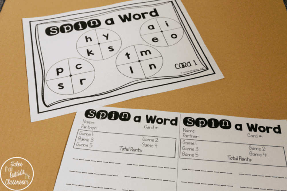 Spin a Word Partner Game