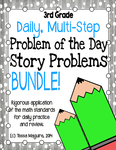 Daily Multi-Step Story Problems for 3rd Grade