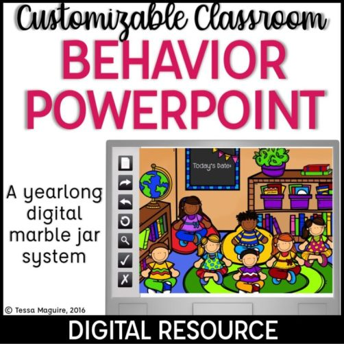 Customizable Classroom Behavior Powerpoints