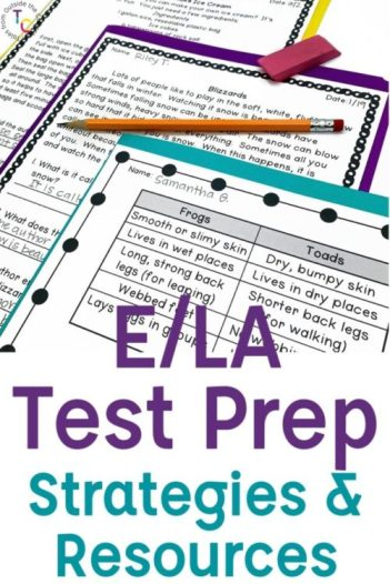 E/LA test prep strategies and resources for 2nd and 3rd grades