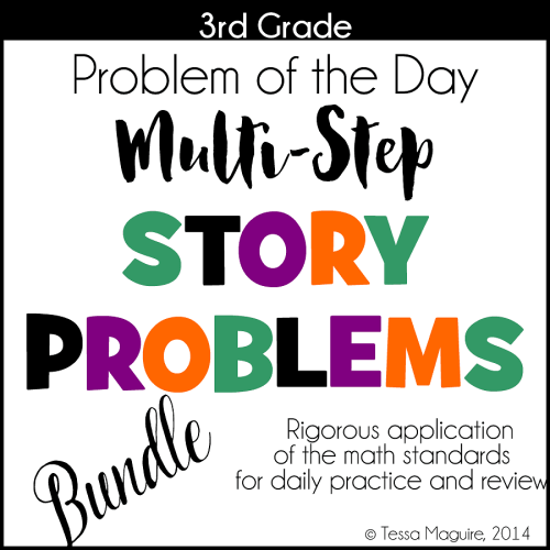 3rd Grade Problem of the Day Story Problem Bundles