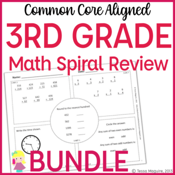 3rd math spiral reviewe