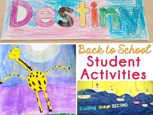 Student activities for Back to School