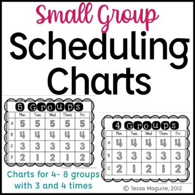 Small group scheduling charts
