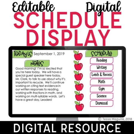 Digital Daily Schedule Display cover image
