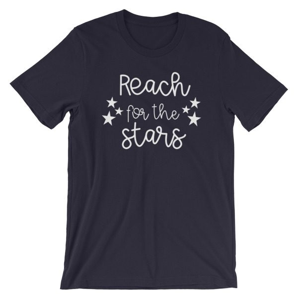 Reach for the stars tee navy