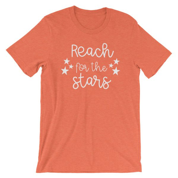 Reach for the stars tee heather orange
